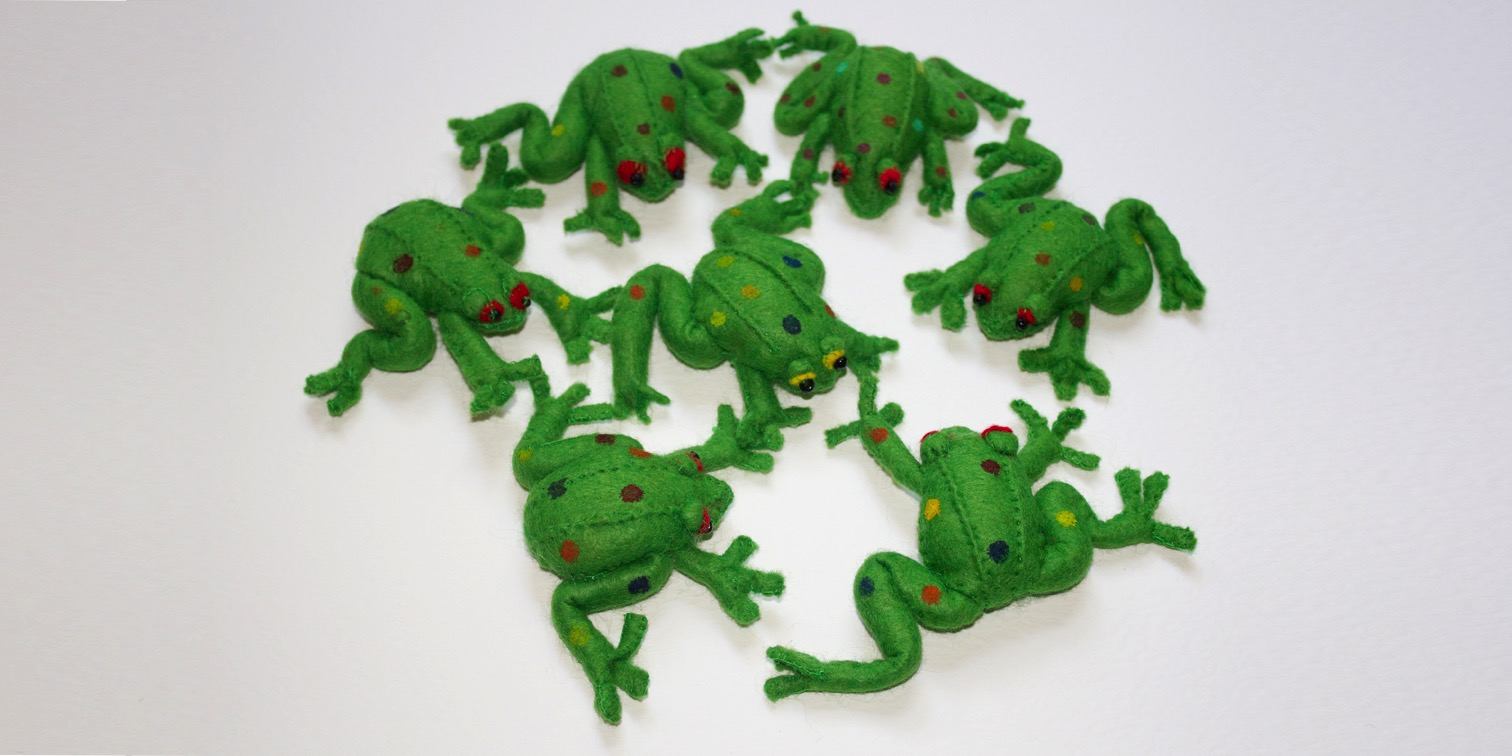 Frog brooches